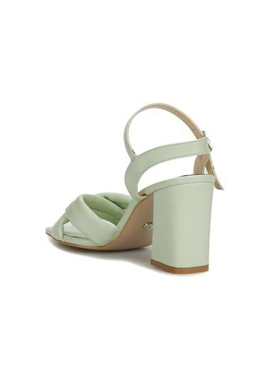 Divarese Divarese 5025370 Topuklu Lila Kadın Sandalet Yeşil